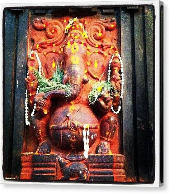 Hinduism Canvas Print - Sri Ganesha by Jyothi Joshi