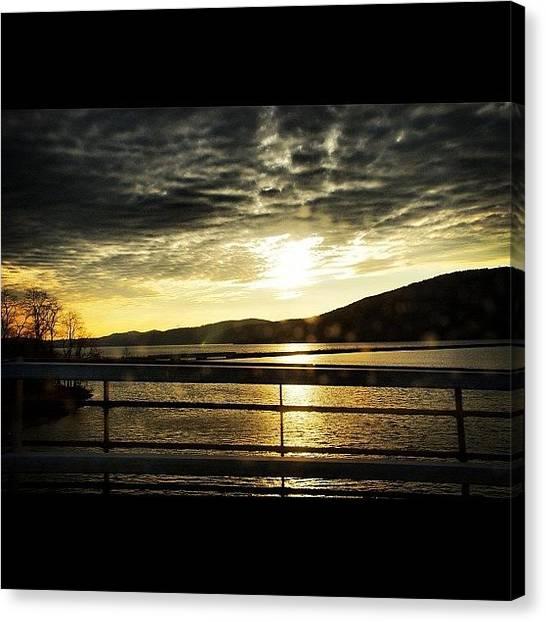 Lake Sunrises Canvas Print - #sspics #skylovers #sunsetlovers by Julia Meyer