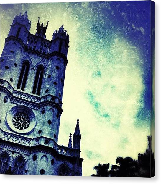 Saints Canvas Print - St. Joseph's Cathedral #india by Abid Saeed