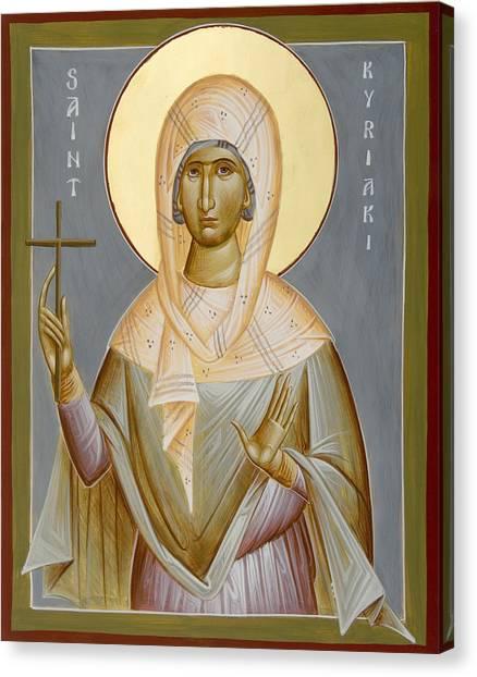 St Kyriaki Canvas Print by Julia Bridget Hayes