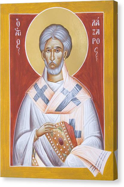 St Lazarus Canvas Print - St Lazarus by Julia Bridget Hayes