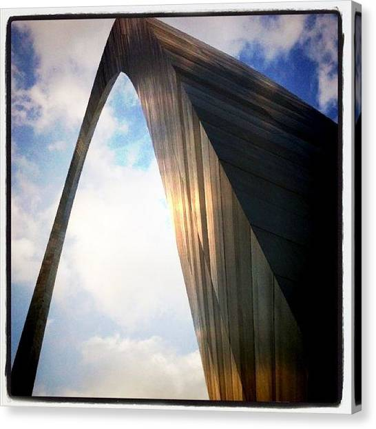 St. Louis Cardinals Canvas Print - St. Louis Arch by DJ Flem