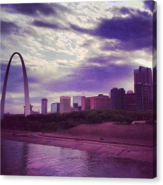 Saints Canvas Print - St. Louis Skyline by Anna Beasley