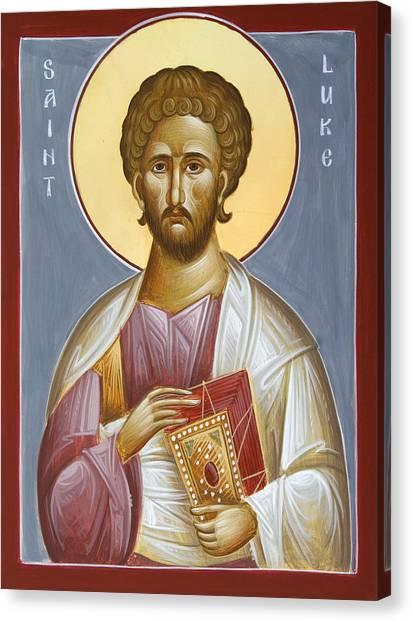 Saint Luke The Evangelist Canvas Print - St Luke The Evangelist by Julia Bridget Hayes