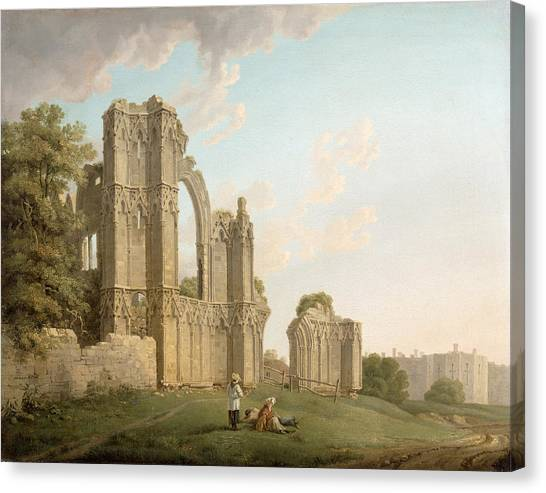 Dilapidation Canvas Print - St Mary's Abbey -york by Michael Rooker