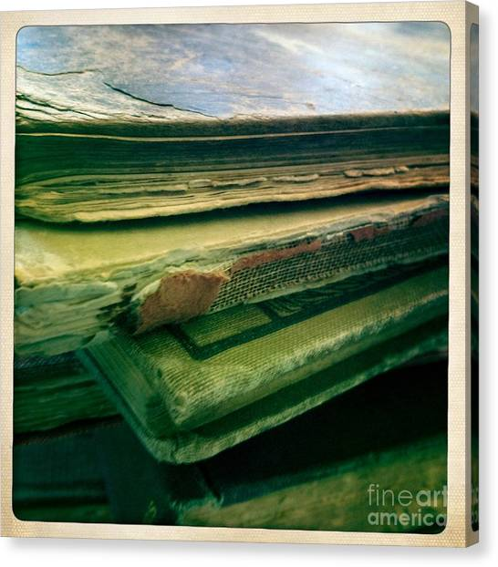 Stack Of Old Books Canvas Print by Ruby Hummersmith