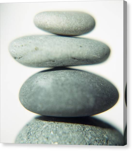 Stacked Pebbles Canvas Print by Cristina Pedrazzini