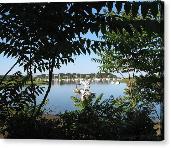 Stage Island Canvas Print by Heather Gwyn Twomey