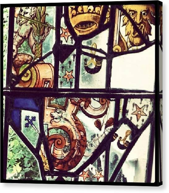 Medieval Canvas Print - #stained, #glass, #window, #dutch by Rykan V