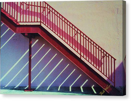 Staircase On A Wall Canvas Print