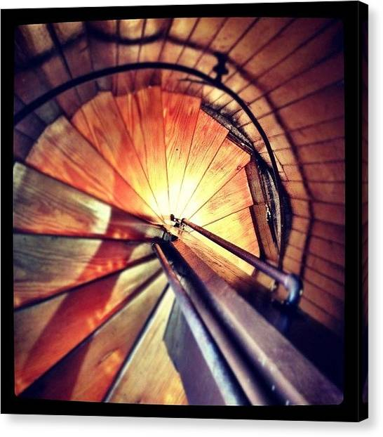 Spiral Canvas Print - #staircase #stairs #spiral by A Loving