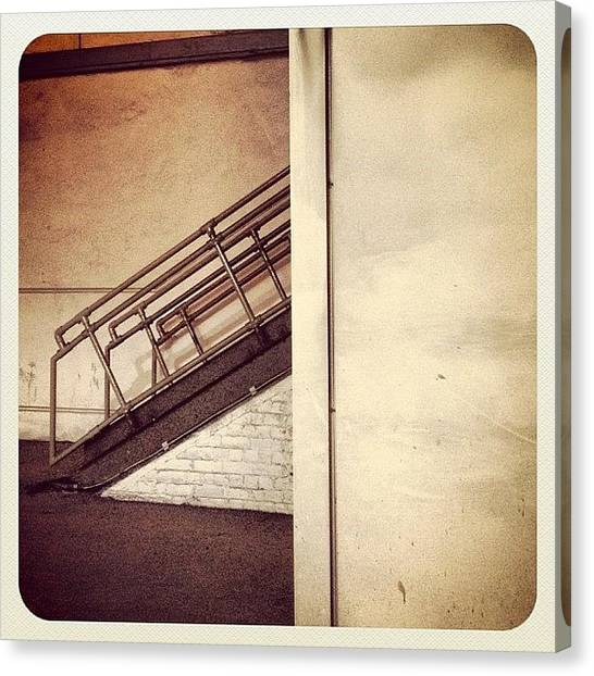 London Tube Canvas Print - Staircase To Nowhere #tube #underground by Manee Authi 🇬🇧