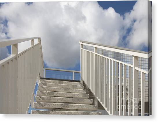 Stairs And Clouds Canvas Print by Jaak Nilson
