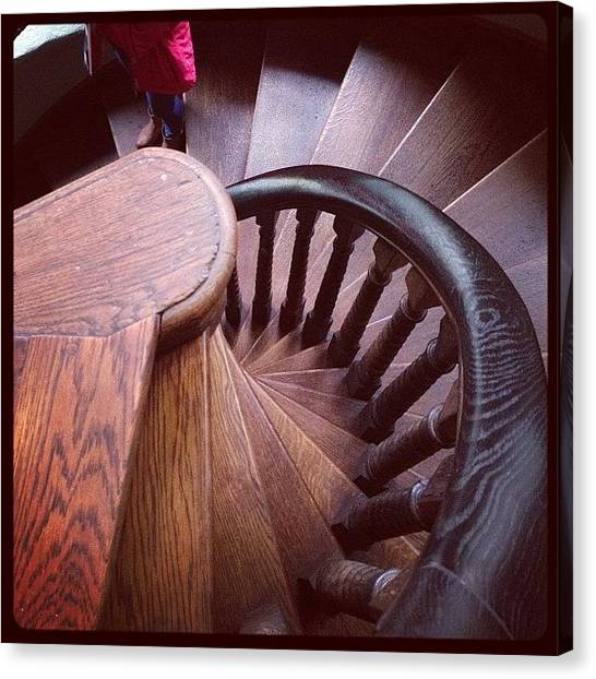 Spiral Canvas Print - Stairs by Emma Hollands