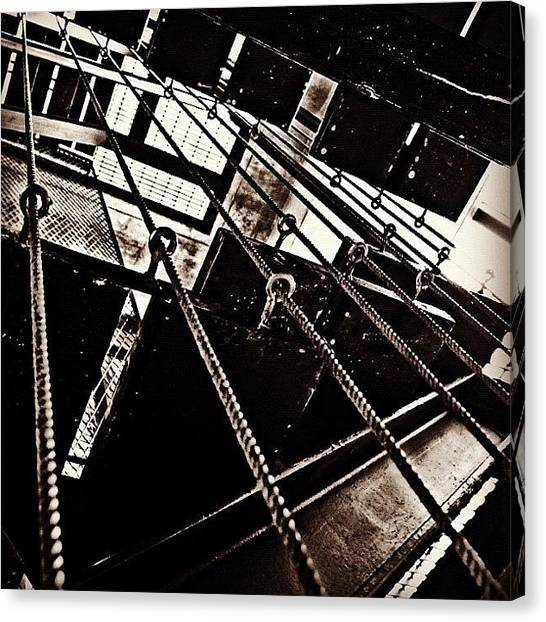 Gothic Art Canvas Print - #stairs #factory #industrial #gothic by Kokky Lawrence
