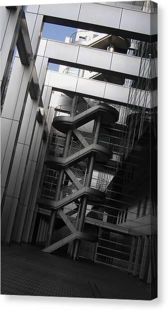 Subway Canvas Print - Stairs Fuji Building by Naxart Studio