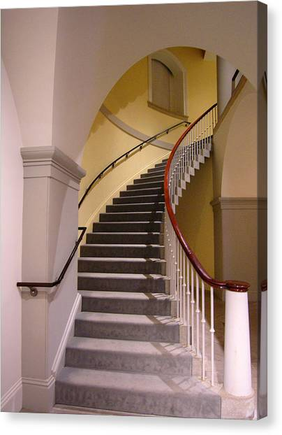 Smithsonian Institute Canvas Print - Stairway At National Portrait Gallery by Steven Ainsworth