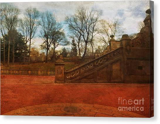 Stairway In Central Park Canvas Print