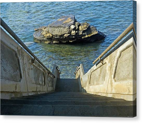 Stairway To Magic Island Canvas Print by David Rearwin