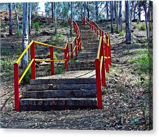 Stairway To Nowhere Canvas Print by Peter P G