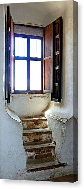 Stairway To The Outside Canvas Print