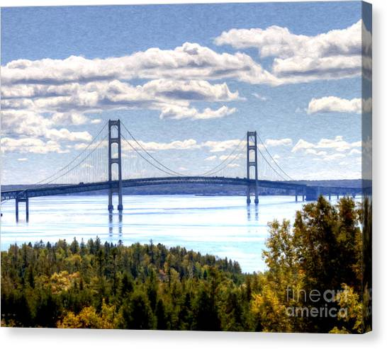 Staits Of Mackinac Canvas Print