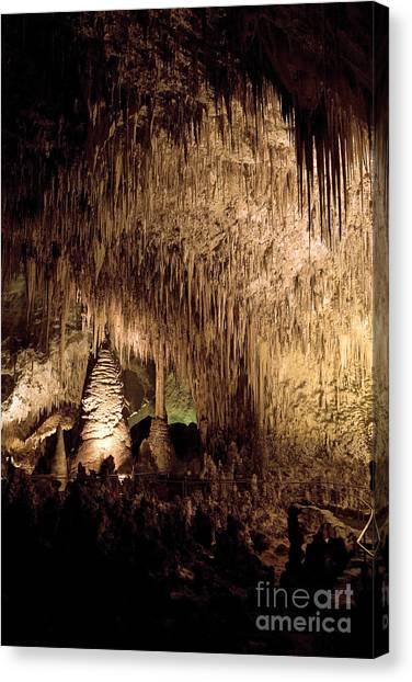 Carlsbad Caverns Canvas Print - Stalactites In Carlsbad Caverns by Matt Tilghman
