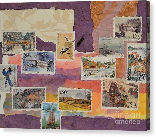 Stamps from china no 1 painting by barbara tibbets stamps from china no 1 canvas print by barbara tibbets thecheapjerseys Images