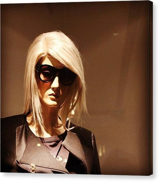 Om Canvas Print - Stand By Me! #mannequin #zara #hongkong by Om Bhatia