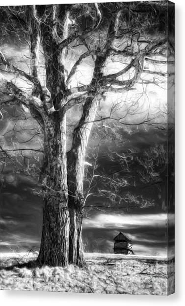 Groundhogs Canvas Print - Standing Guard II by Dan Carmichael