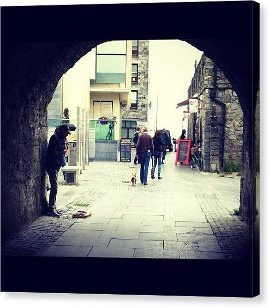 Ireland Canvas Print - Standing Under The Spanish Arch by Emily Alvarez