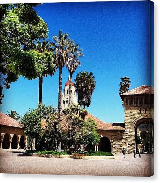 Stanford University Canvas Print - Stanford University #california #sky by Lisa Thomas