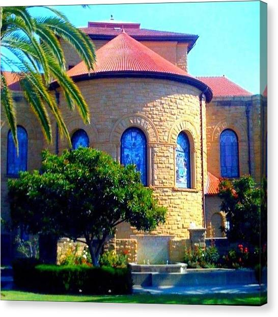 Apple Tree Canvas Print - Stanford University Chapel - Palo Alto Ca by Anna Porter