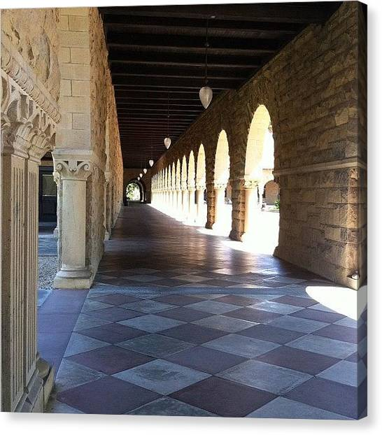 Stanford University Canvas Print - Stanford University #stanford by Lisa Thomas