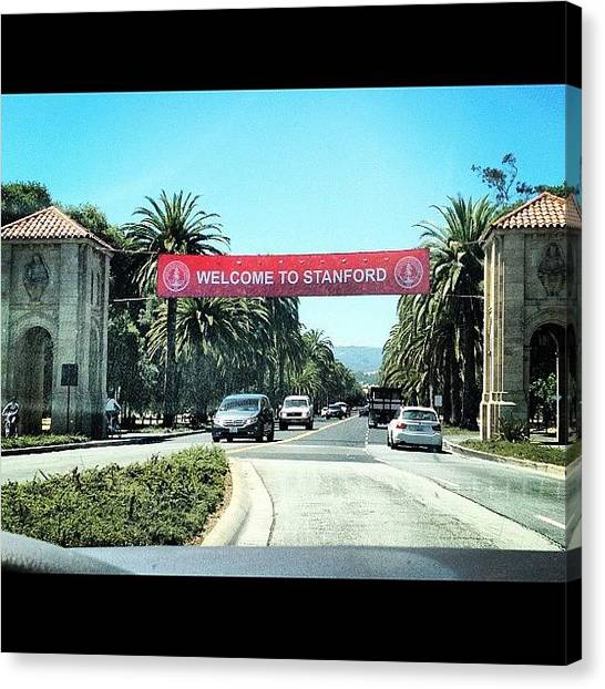 Stanford University Canvas Print - #stanforduniversity #smart #beautiful by Nish K.