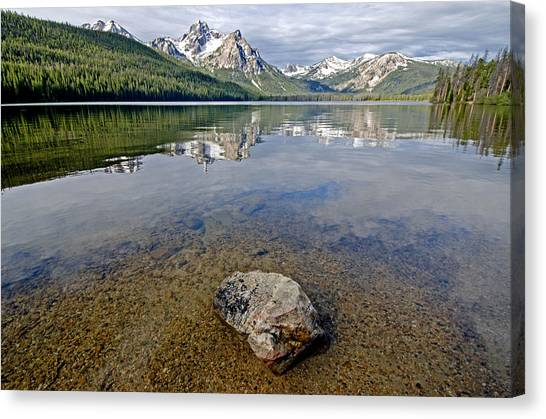 Stanley Lake Canvas Print by Elijah Weber