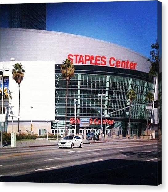 Stadiums Canvas Print - Staples Center by Nish K.
