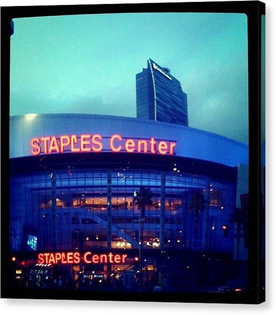 Los Angeles Kings Canvas Print - Staples Center by Robert Roslauski
