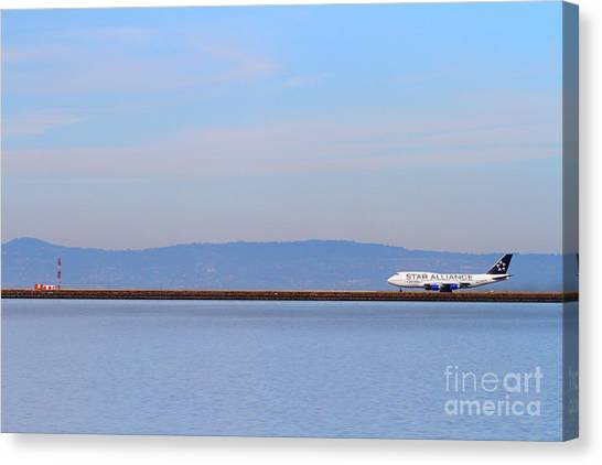 Star Alliance Canvas Print - Star Alliance Airlines Jet Airplane At San Francisco International Airport Sfo . 7d12208 by Wingsdomain Art and Photography