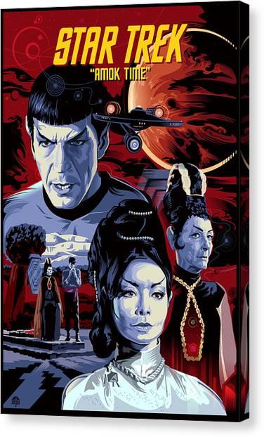 Star Trek Canvas Print - Star Trek Amok Time by Garth Glazier