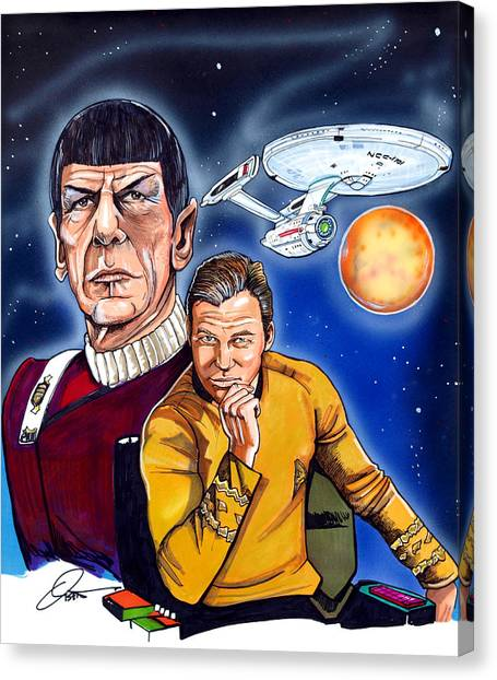 James T. Kirk Canvas Print - Star Trek by Dave Olsen