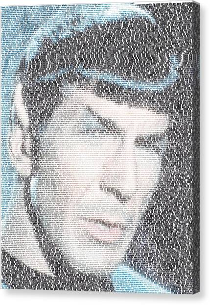James T. Kirk Canvas Print - Star Trek Spock Opening Narration Mosaic by Paul Van Scott