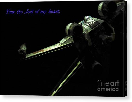 Prop Planes Canvas Print - Star Wars Card by Micah May