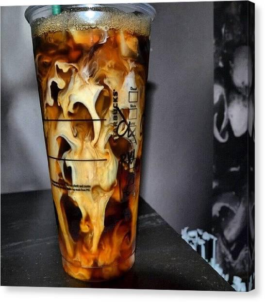 Tornadoes Canvas Print - Starbucks New Tornado Iced Latte by Da'Neil Olsen