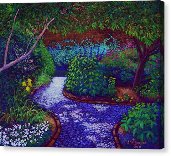 Canvas Print featuring the painting Southern Garden by Jeanette Jarmon