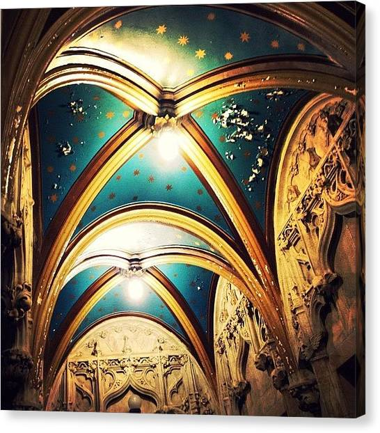 Medieval Art Canvas Print - Starry Night Ceiling by Natasha Marco