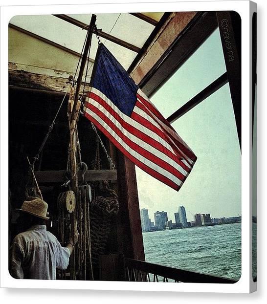 Flags Canvas Print - Stars & Stripes Aboard The Lehigh by Natasha Marco