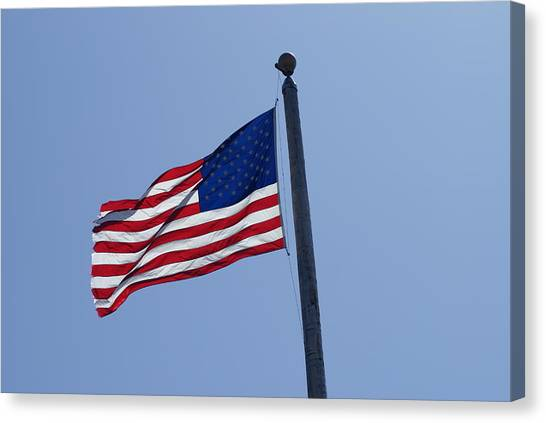 Stars And Stripes Canvas Print by Jerry Cahill