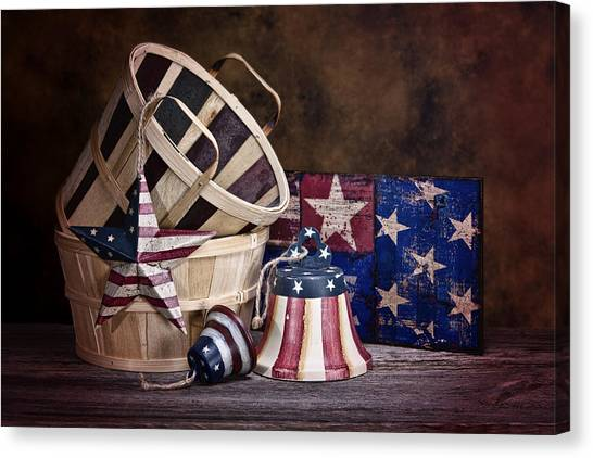 Independence Day Canvas Print - Stars And Stripes Still Life by Tom Mc Nemar