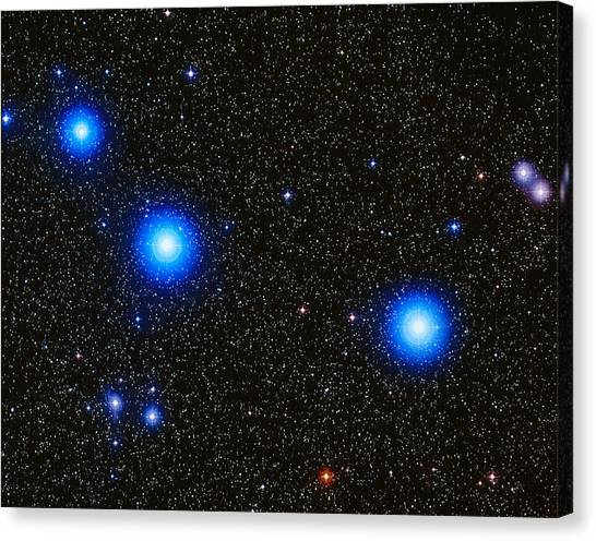 Delta Zeta Canvas Print - Stars by Celestial Image Co.
